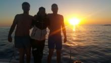 Sonnenaufgang auf der Schlangeninsel