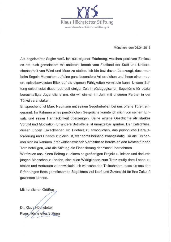 KHS_Segelrebellen_Schreiben